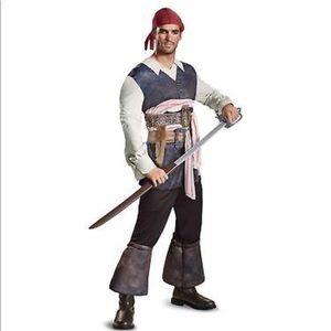 Sparrow Disney Pirates Caribbean Costume Sz XL